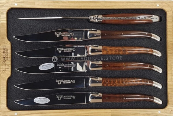 laguiole table knives snakewood set of 6