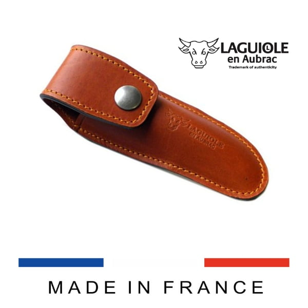 leather belt sheath brown