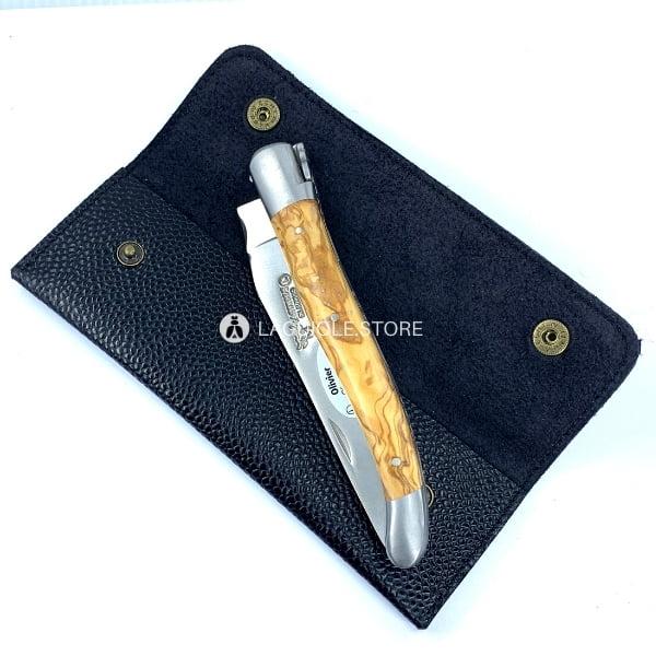 leather sheath black for sommelier knives