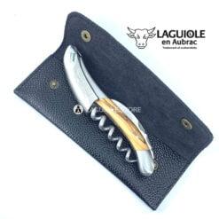 leather sheath black for waiters corkscrews