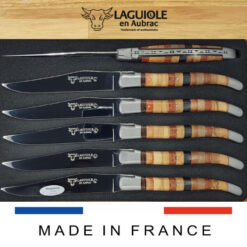 marquetry woodstock laguiole steak knives set of 6