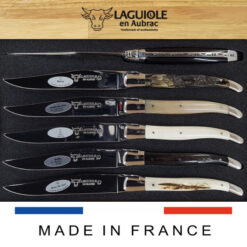 mixed horn and bone laguiole steak knives set of 6