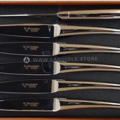 monobloc laguiole en aubrac steak knives all stainless steel