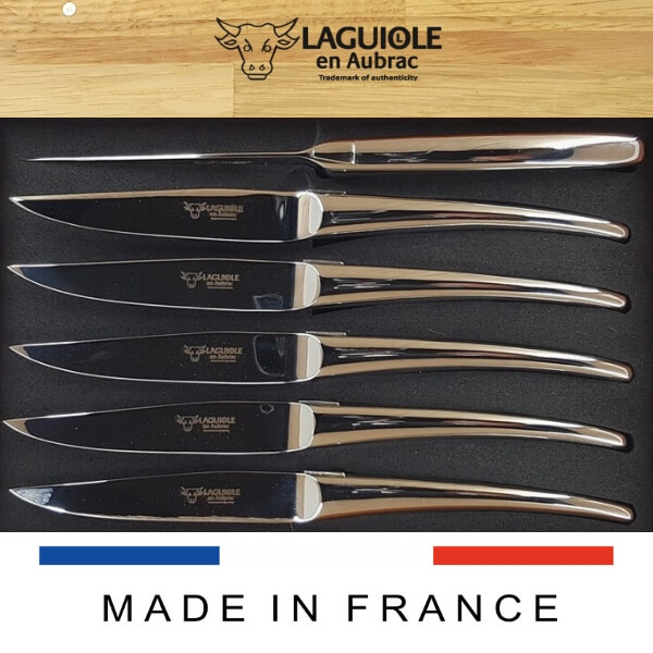monobloc laguiole steak knives all stainless steel