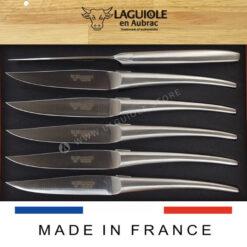 monobloc satin polish monobloc laguiole steak knives set