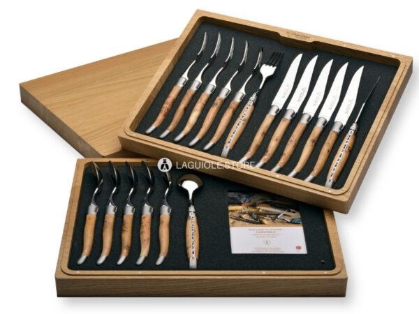 original laguiole en aubrac cutlery set 12 or 18 piece