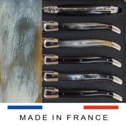pressed horn laguiole handle shiny