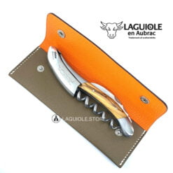 waiters corkscrew laguiole leather sheath