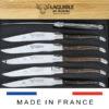 wenge wood laguiole steak knives set of 6 satin polish