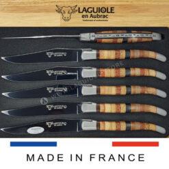 woodstock laguiole en aubrac steak knives set