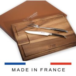 laguiole carving set and cutting board