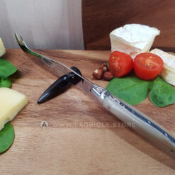 laguiole cheese knife horn tip double pointed blade