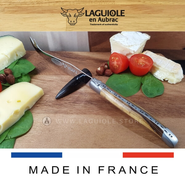 laguiole cheese knife pistachio wood handle