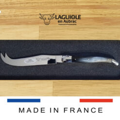 laguiole cheese knife pressed horn handle