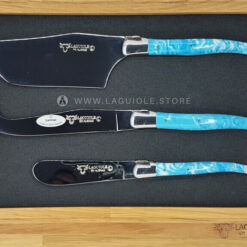 laguiole cheese knives larimar stone