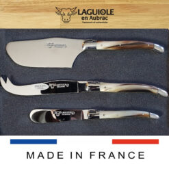 laguiole cheese set horn tip handle