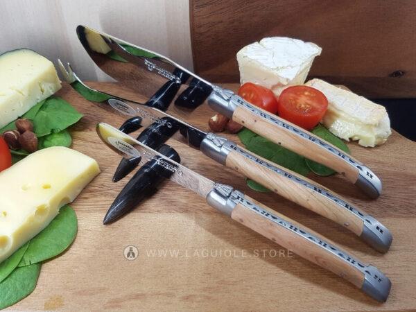 laguiole cheese set juniper wood