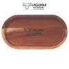 laguiole en aubrac butter dish in acacia wood