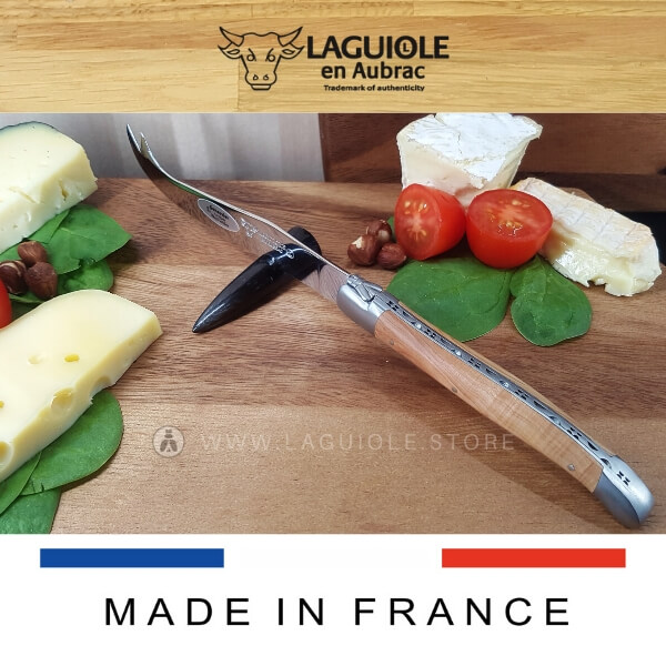 laguiole en aubrac cheese knife juniper wood handle