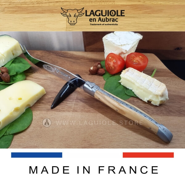 laguiole en aubrac cheese knife olive wood handle