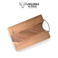 laguiole en aubrac cutting board metal handle
