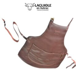 laguiole en aubrac leather apron