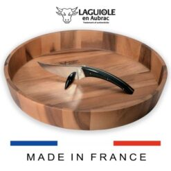 laguiole le buron cheese knife with cheese bowl