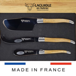 olive wood laguiole cheese set of 3