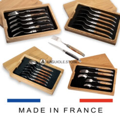 set of 6 laguiole dinner forks-soup spoon- dessert cutlery