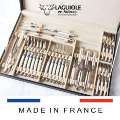 laguiole cutlery set bone handle 28 piece