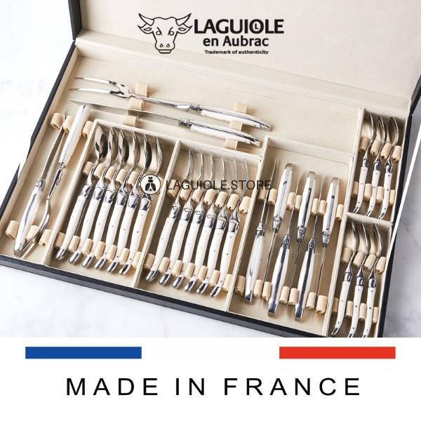 laguiole flatware set beef bone handle 28 piece