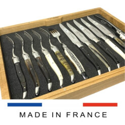 laguiole steak knives and forks mixed horns and bone
