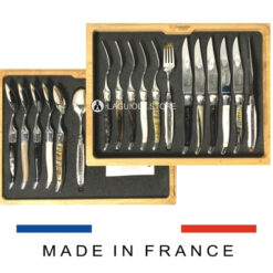 steak knives and forks laguiole handles mixed horns and bone