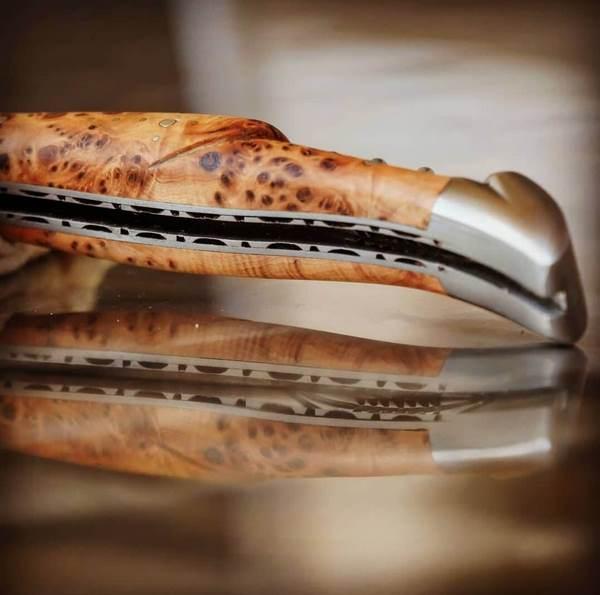laguiole knife double plates juniper handle
