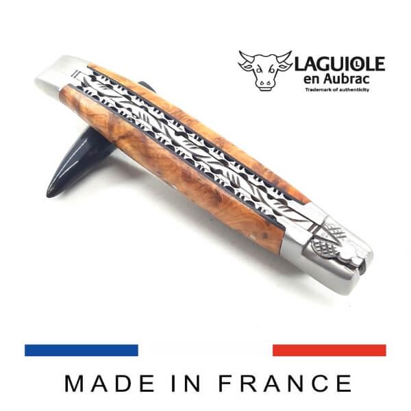 laguiole knife thuya handle