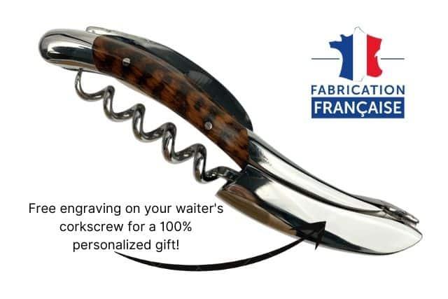 lever engraving on sommelier knife