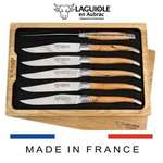 set of 6 laguiole steak knives