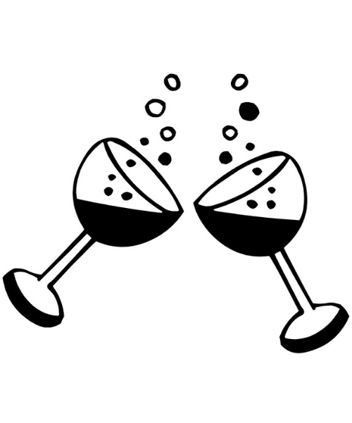 2 glass of wine pattern