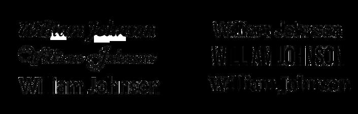 font engraving