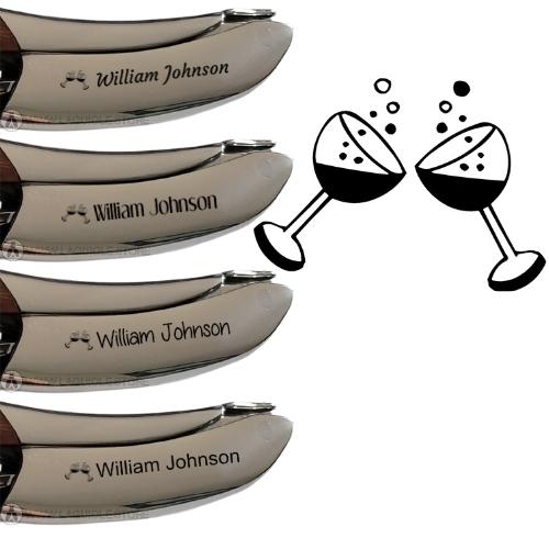 laguiole corkscrew engraving 2 glass of wine