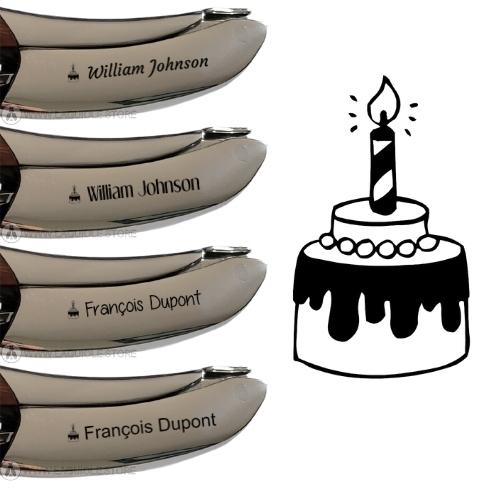 laguiole corkscrew engraving birthday cake