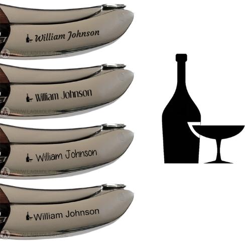 laguiole corkscrew engraving bottle of wine